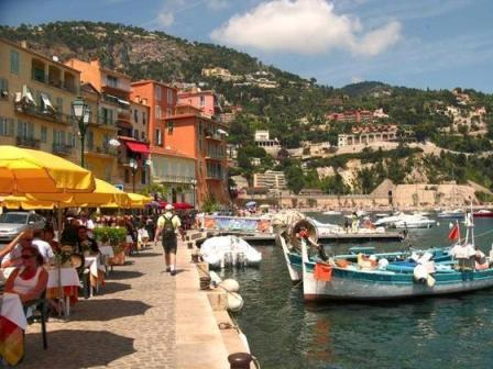 The seafront in Villefranche